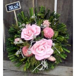 Bouquet rose en fleurs séchées