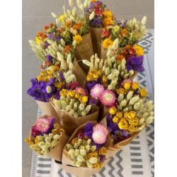 Le bouquet de fleurs séchées composé de 5 variétés