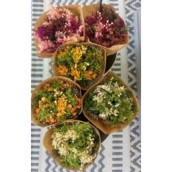 Bouquet de fleurs séchées India - Bouquet rond