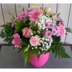 Bouquet rose germini-santini